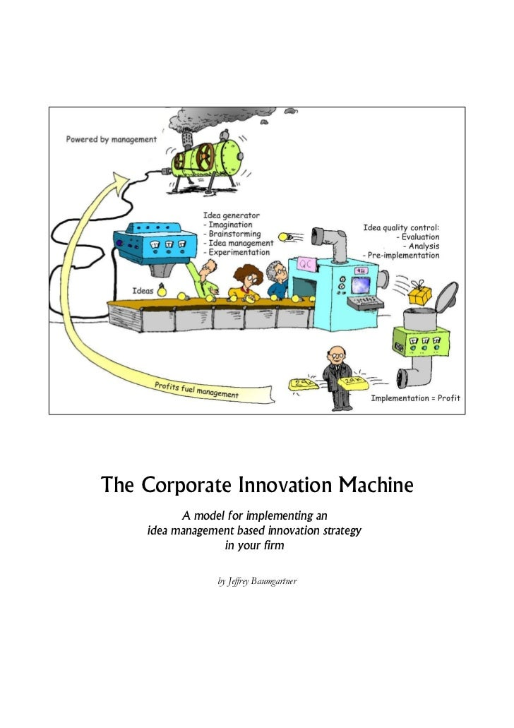 The Corporate Innovation Machine          A model for implementing an    idea management based innovation strategy        ...
