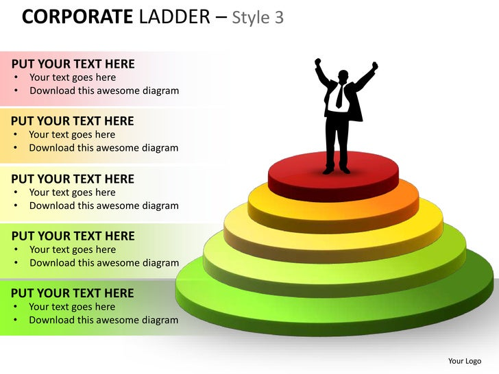 Corporate Ladder Style 3 Powerpoint Presentation Templates