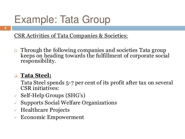 """tata steel csr Csr @ tata steel 1 csr @ tata steel pulkit gupta section-c roll no-13dm142 2 responsible development the tata steel group's core purpose is """"to improve the quality of life of the communities we serve through long-term stakeholder value creation"""" at tata steel, sustainable development and inclusive growth is facilitated by the corporate."""