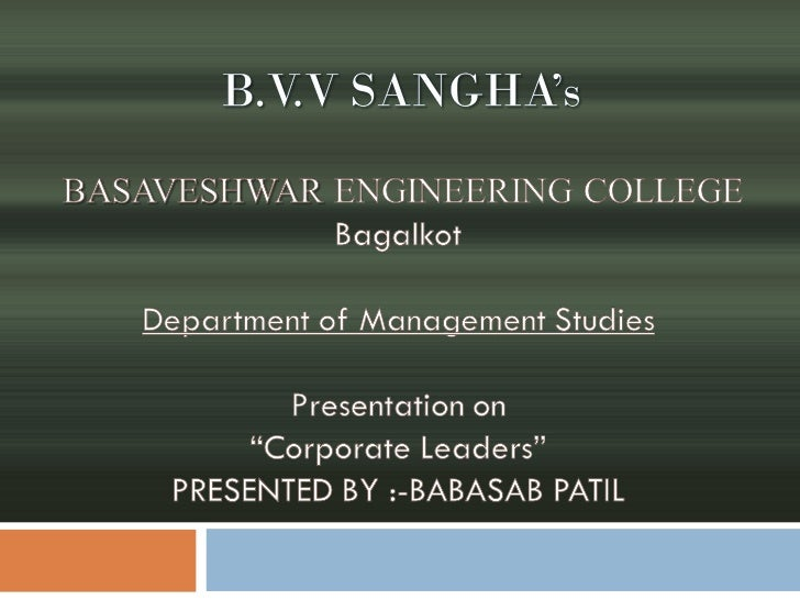 Corporate leaders ppt mba