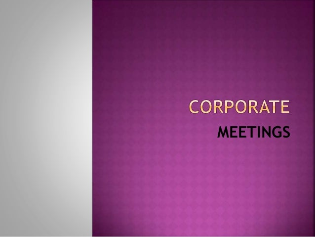 Corporate meeting Business Communication