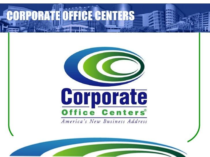 CORPORATE OFFICE CENTERS