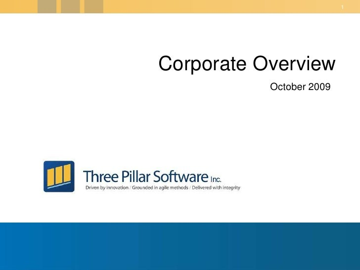 Corporate Overview<br />April 5, 2010<br />
