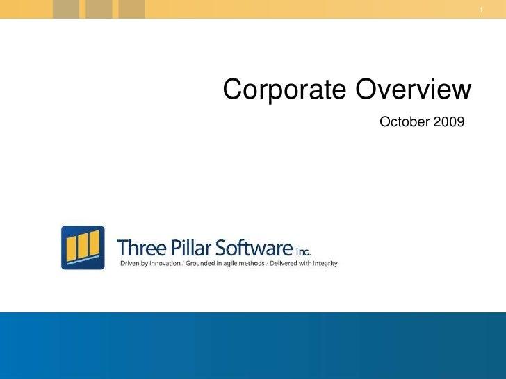 Three Pillar Corporate Overview