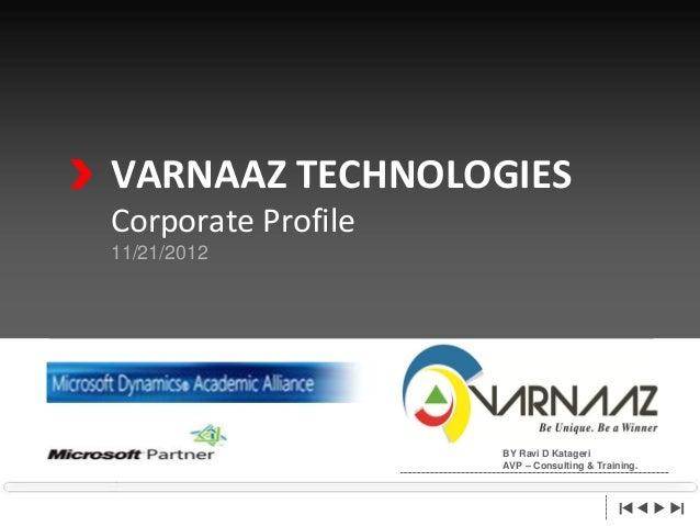 Service Offerings Of Varnaaz