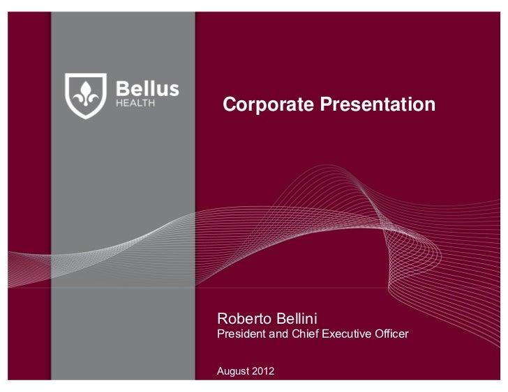 Corporate presentation   august 2012