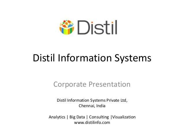 Corporate presentation - Distil Info