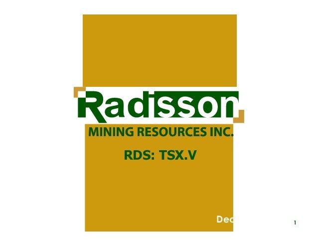 RDS: TSX.V  December 2013  1