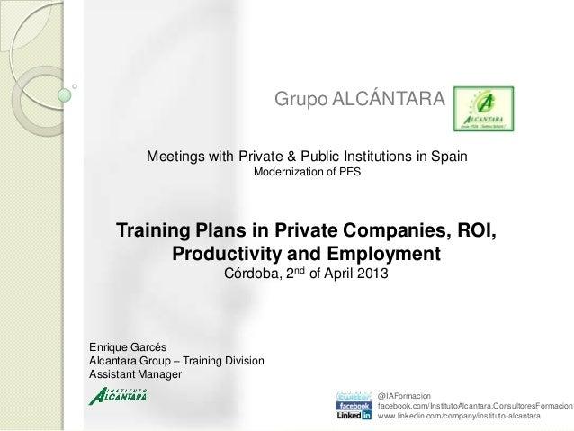 Corporate presentation conference_training plans_córdoba_s_share