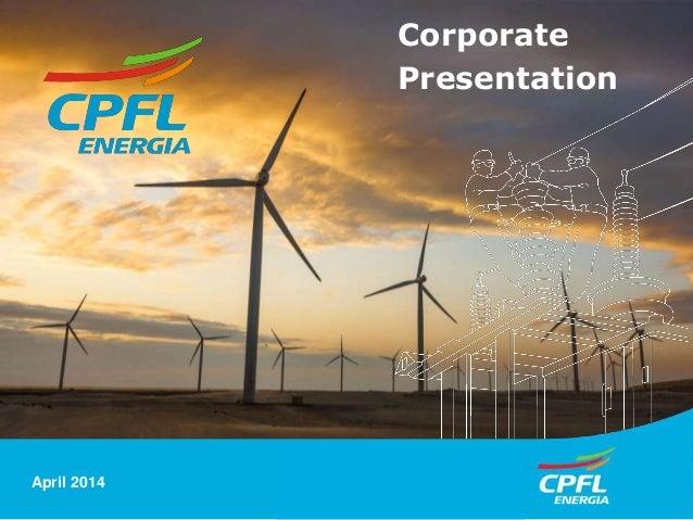 Corporate Presentation CPFL Energia