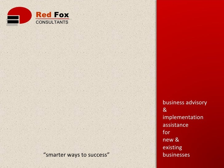 Corporate Presentation Red Fox V1