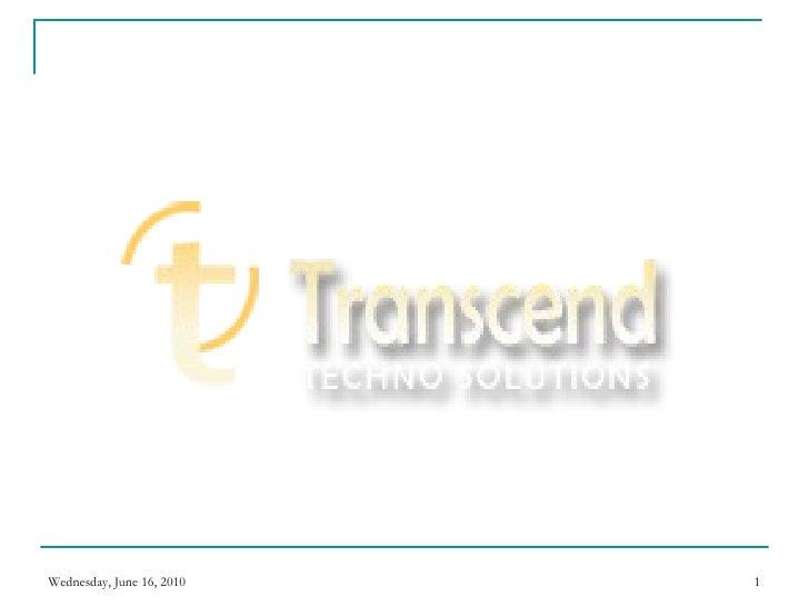 Corporate Presentation Transend Solutions