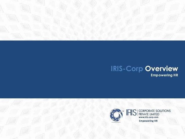 IRIS-Corp Overview Empowering HR