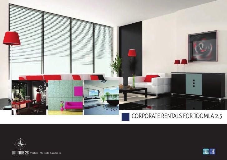 Corporate Rentals Solution for Joomla 2.5 - Brochure 2012