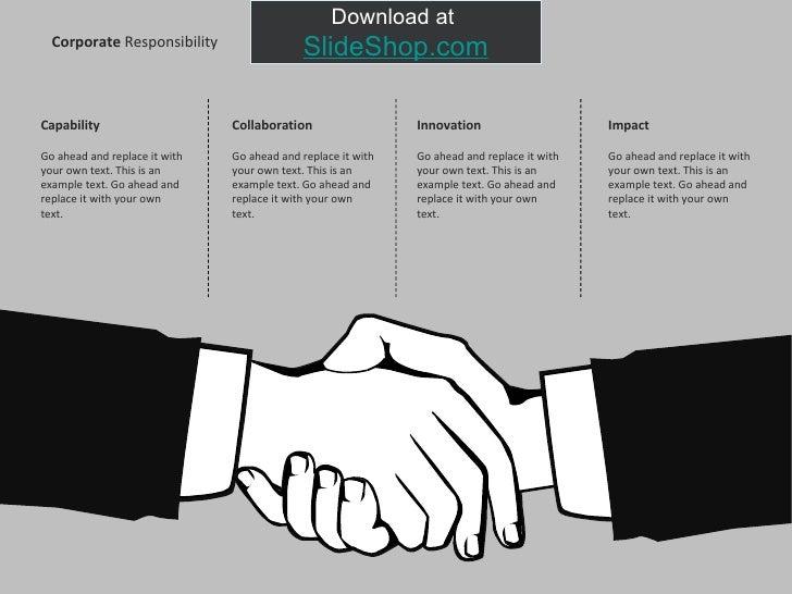 Corporate responsibility illustrations