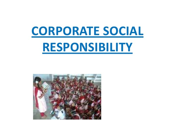 Corporate social responsibility paper