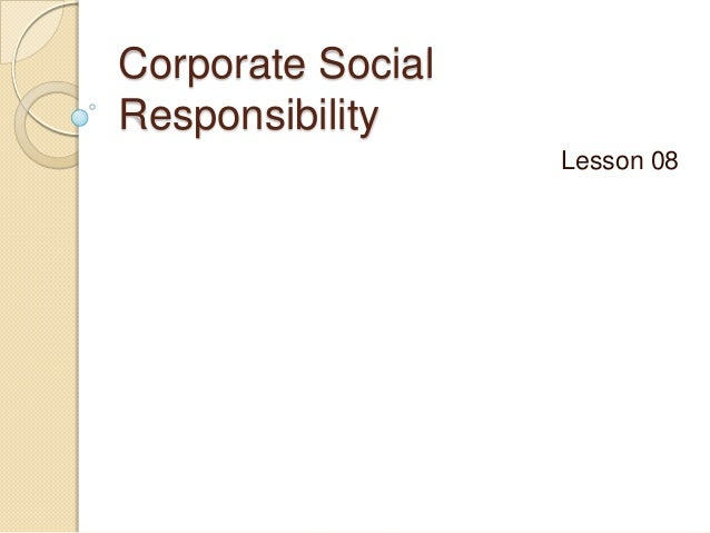 8Corporate social responsibility