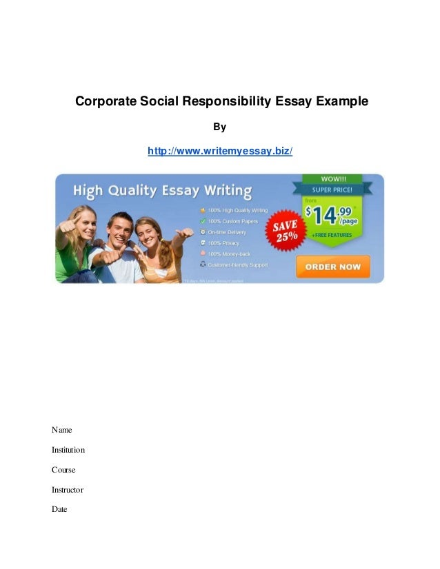 corporate social responsibility essay conclusion Corporate social responsibility corporate social responsibility (csr) is a self-regulatory mechanism incorporated by corporations in their business model.