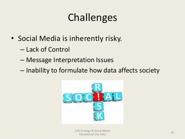 lack of responsibility in social media Before embarking on a social media program social media accountability – a guide for clients lack of sophistication with smaller providers.