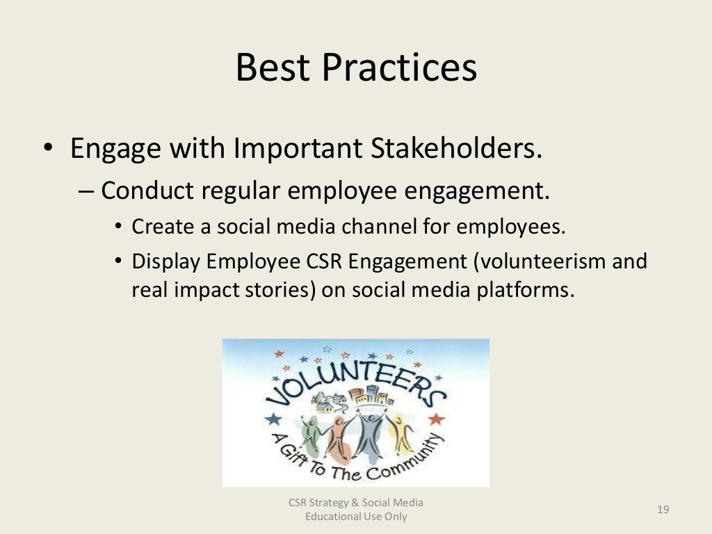 Corporate Social Responsibility (CSR)