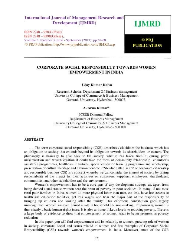 International Journal of Management Research and Development (IJMRD) ISSN 2248-938X (Print), ISSN 2248-9398 (Online) Volum...