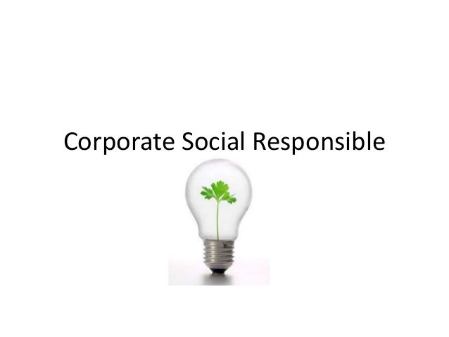 Corporate social responsible1