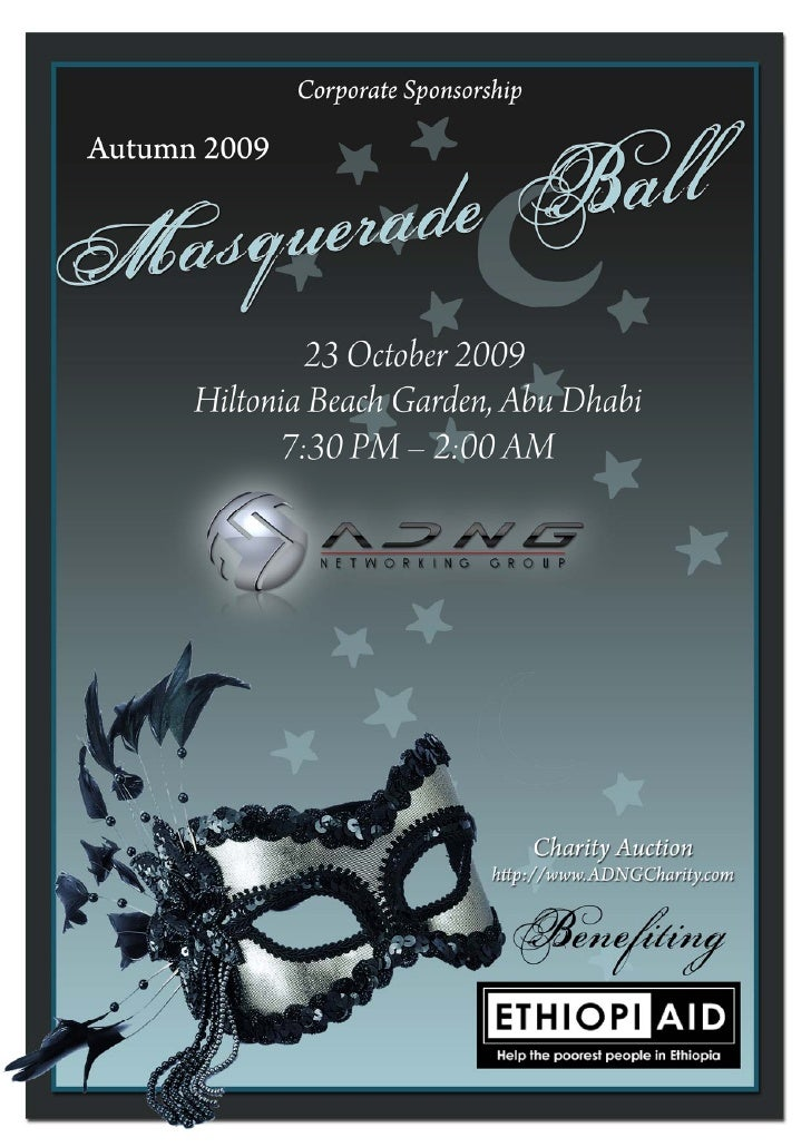 Masquerade Ball   Corporate Sponsorships