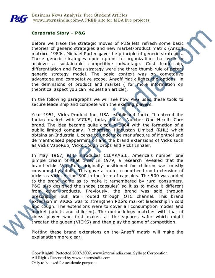 P&G India Marketing Strategy