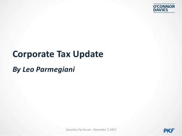 Corporate Tax Update