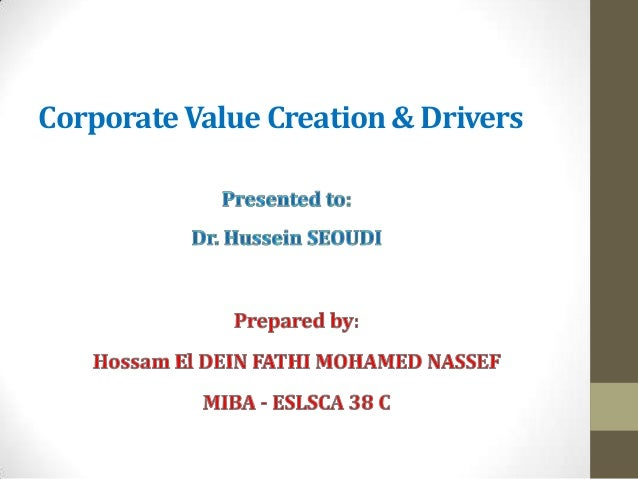 Corporate Value Creation & Drivers