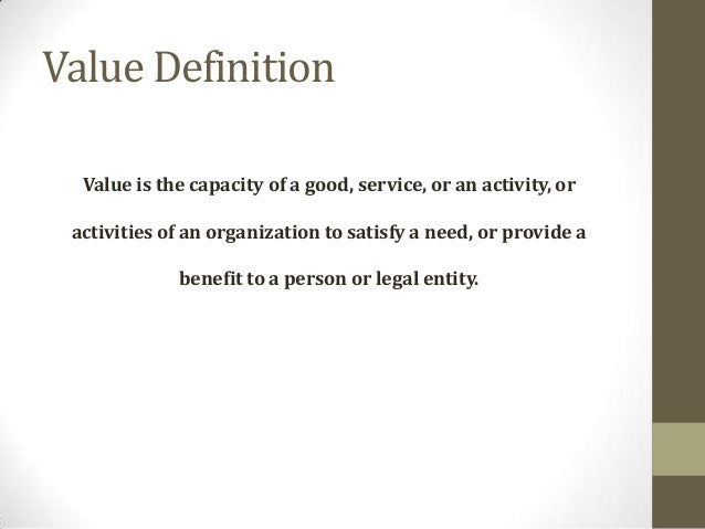 Define Value In Art : Corporate value creation and drivers