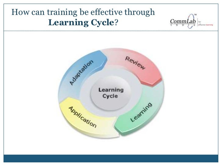 Effective corporate training through a learning cycle