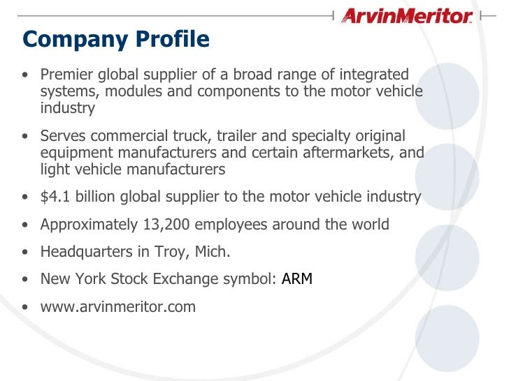 ArvinMeritor Corporate Overview