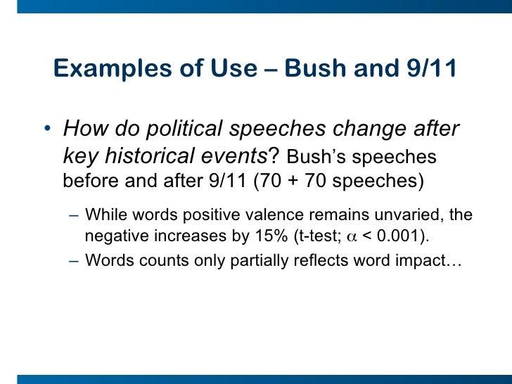 Writing a political speech