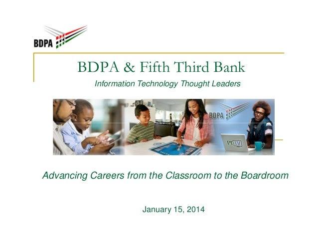 BDPA Future & Fifth Third Bank (Jan 2014)
