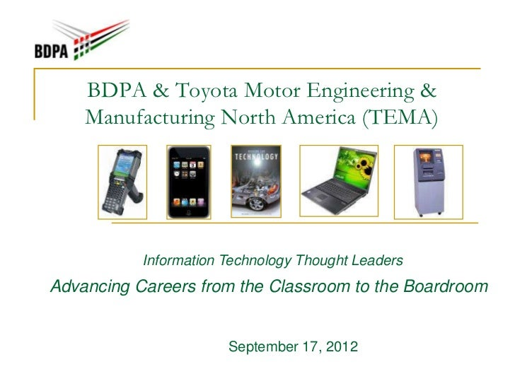 Presentation Bdpa Toyota Motor Engineering