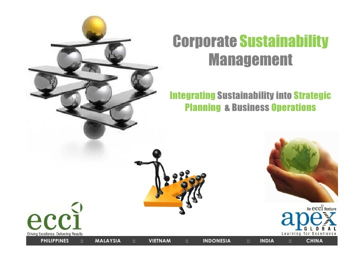 Corporate Sustainability                                                  Management                                      ...