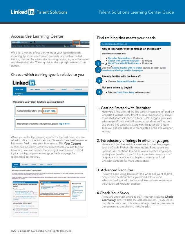 LinkedIn Talent Solutions Training Centre