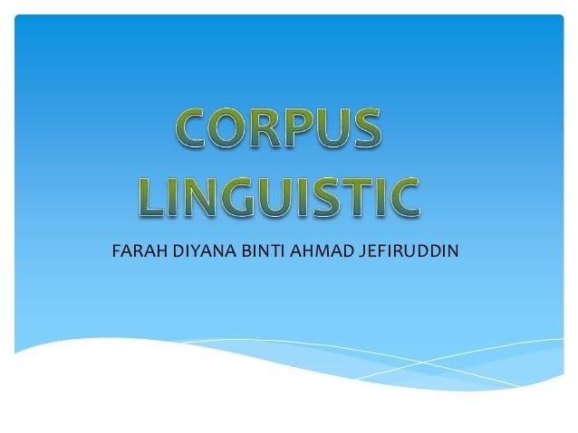Corpus linguistic