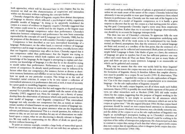 essay on corpus linguistics language
