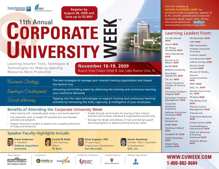 11th Annual Corporate University Week 2009