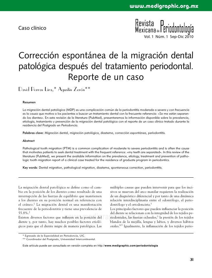 Correccion espontanea migracion patologica (rmp 2010)