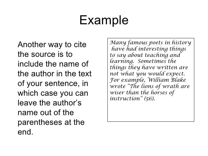 How do I cite things properly?
