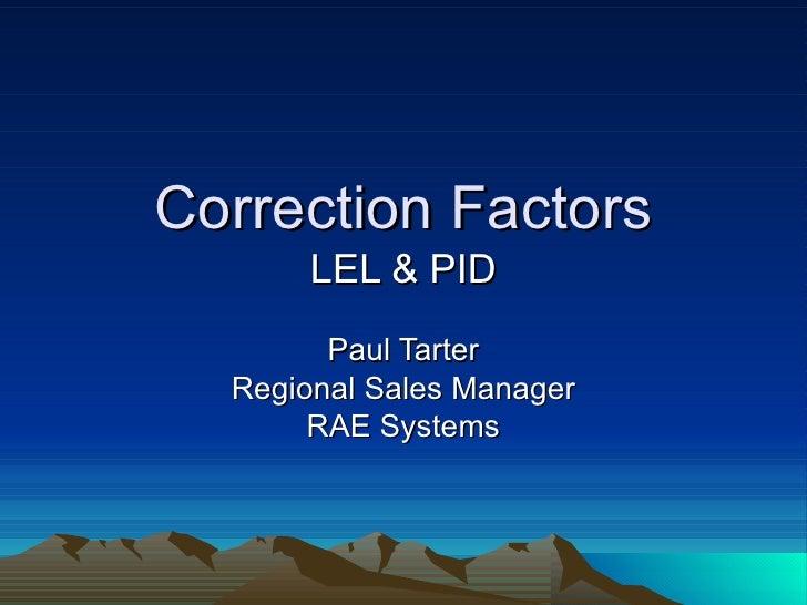 Correction factors basics