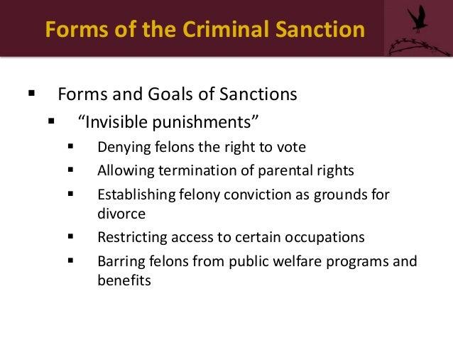 Goals of corrections retribution