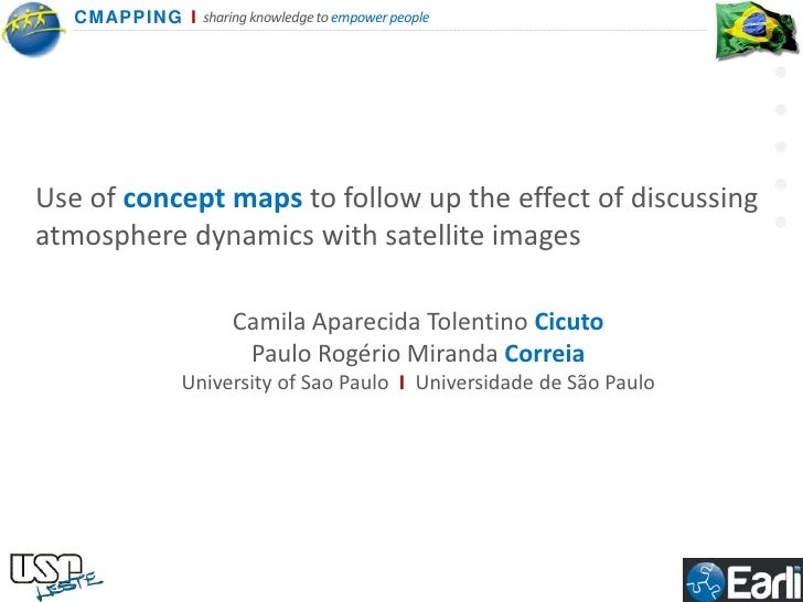 Use of concept maps to follow up the effect of discussing atmosphere dynamics with satellite images