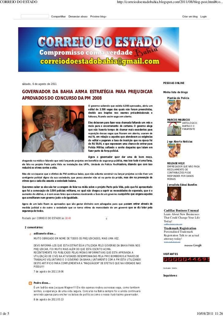 CORREIO DO ESTADO                                                                             http://correiodoestadobahia....