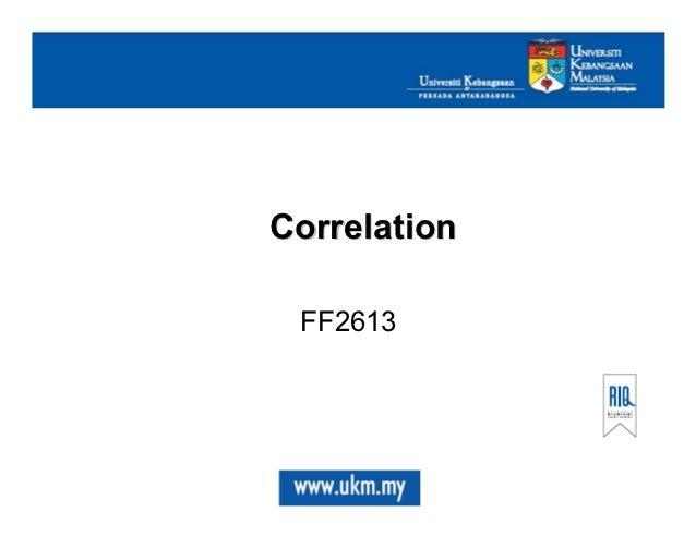 Correlation FF2613