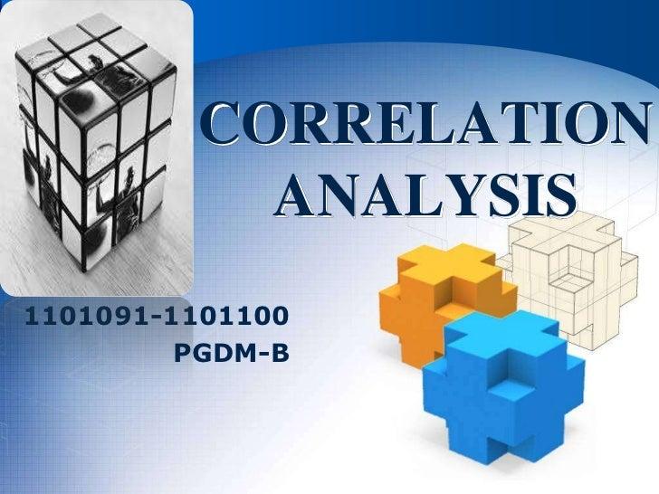 LOGO         CORRELATION           ANALYSIS1101091-1101100         PGDM-B