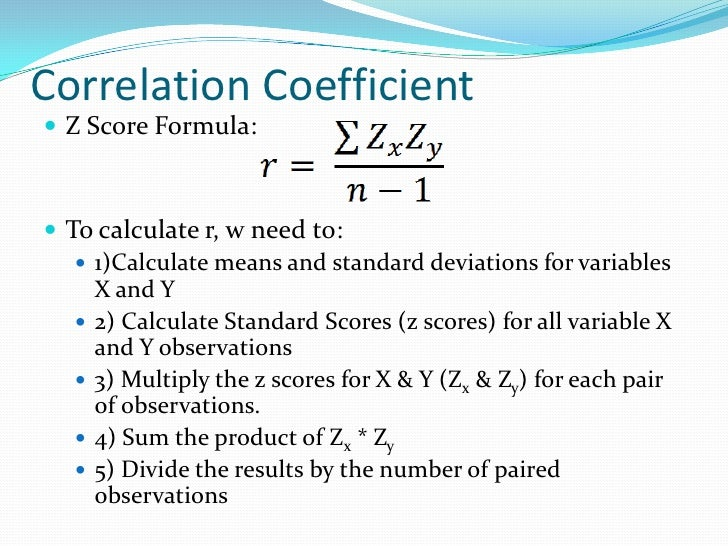 How to Calculate Z Scores forecast